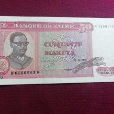 Billetes extranjeros: BANCO DE ZAIRE. 50, CINQUANTE MAKUTA. 1979 SC. Lote 178331098