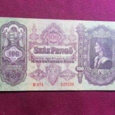 Billetes extranjeros: HUNGRIA 100 PENGO 2.1. 1930 . Lote 178341598