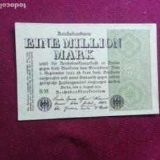 Billetes extranjeros: ALEMANIA - 1 MILLÓN MARCOS, DE 9. DE AGOSTO DE 1923 SC. Lote 236422445