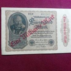 Billetes extranjeros: ALEMANIA 1000 MARCOS 1922 (1923) SOBRECARGA HABILITADO 1000 MILLONES SC UNC. Lote 178568593