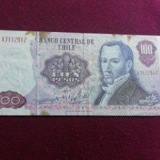 Billetes extranjeros: CHILE 1977, 100 PESOS. ESCASO. Lote 178570692