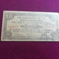 Billetes extranjeros: FILIPINAS BOHOL 10 CENTAVOS 1942. Lote 178571315