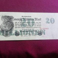 Billetes extranjeros: 20 000 000 MARCOS 1923 ALEMANIA SC-. Lote 178672137