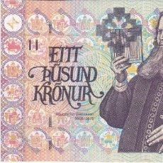 Billetes extranjeros: BILLETE DE ISLANDIA DE 1000 KRONUR DEL AÑO 2011 EN BUENA CALIDAD. Lote 178687320