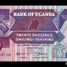 Billetes extranjeros: UGANDA 20 SHILLINGS 1987 PICK 29A SC UNC. Lote 210628562