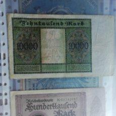 Billetes extranjeros: ALEMANIA. 100000 MARCOS DE 1923 CALIDAD SC +10000 MARCOS DE 1922. Lote 178720967