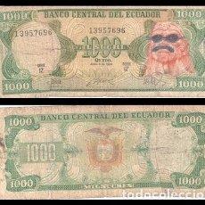 Billetes extranjeros: ECUADOR 1000 SUCRES PIK 125B BC. Lote 178862708