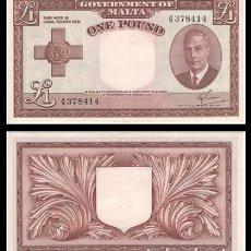 Billetes extranjeros: MALTA 1 POUND 1949-1951 PIK 22 EBC. Lote 178874280