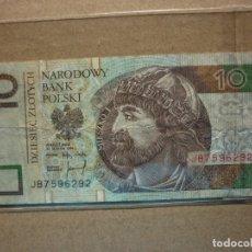 Billetes extranjeros: POLONIA - 10 ZLOTYCH - 1994 CIRCULADO . Lote 179104723