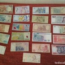 Billetes extranjeros: LOTE CON 21 BILLETES EXTRANJEROS - VARIOS ESTADOS - CIRCULADOS . Lote 179114121