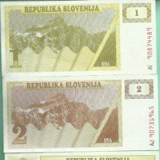 Billetes extranjeros: ESLOVENIA. 2 BILLETES DE 1 Y 2 TOLAR. Lote 179117678