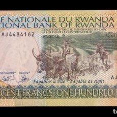Notas Internacionais: RUANDA RWANDA 100 FRANCS 2003 PICK 29B SC UNC. Lote 221343005