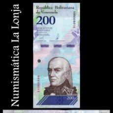 Banconote internazionali: VENEZUELA 200 BOLÍVARES 2018 PICK 107B SC UNC. Lote 179947808