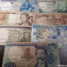 Billetes extranjeros: 7 BILLETES DE PORTUGAL MUY USADOS LOT. I 13. Lote 180179016