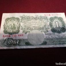 Billetes extranjeros: REINO UNIDO. LIBRA. Lote 180274558