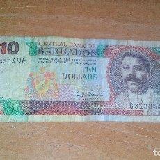 Billetes extranjeros: BARBADOS - 10 DOLARES -. Lote 180458725