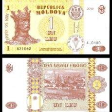Billetes extranjeros: MOLDAVIA - 1 LEU - AÑO 2010 - S/C. Lote 180858447