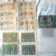 Billetes extranjeros: LOTE DE 11 BILLETES DE ALEMANIA. Lote 181149506