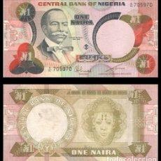 Billetes extranjeros: NIGERIA 1 NAIRA 1979-1984 PIK 19C S/C-. Lote 181178360