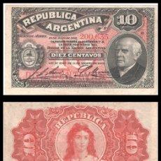 Billetes extranjeros: ARGENTINA 10 CENTAVOS 1895 PIK 228 EBC. Lote 181218273