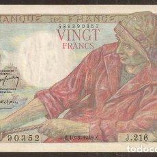 Billets internationaux: FRANCIA. 20 FRANCS 10.3.1949. PICK 100 C.. Lote 181738476