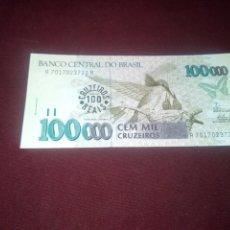 Billetes extranjeros: BRASIL 1993, 100 CRUZEIROS REAIS SC. Lote 182111100