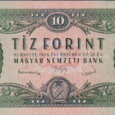Billetes extranjeros: BILLETES - HUNGRIA - 10 FORINT 1949 - SERIE A476 - PICK-164A (SC). Lote 182473805