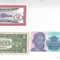 Billetes extranjeros: LOTE DE 3 BILLETES EXTRANJEROS. Lote 182481746