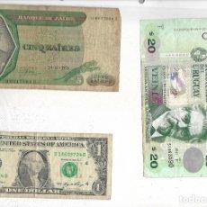 Billetes extranjeros: LOTE DE 3 BILLETES EXTRANJEROS. Lote 182485627