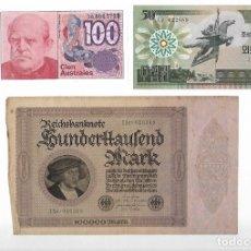 Billetes extranjeros: LOTE DE 3 BILLETES EXTRANJEROS. Lote 182510943