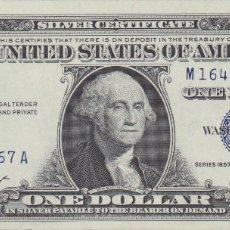 Billetes extranjeros: BILLETES - ESTADOS UNIDOS - 1 DOLLAR 1957 - SERIE M-A - PICK-419A (SC-). Lote 182531765