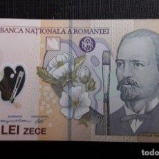 Billetes extranjeros: RUMANIA 10 LEI 2010 PICK 119F POLÍMERO SC. Lote 182629531