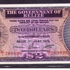 Billetes extranjeros: BELIZE 2 DOLLARS 1975 UNC. Lote 182638950
