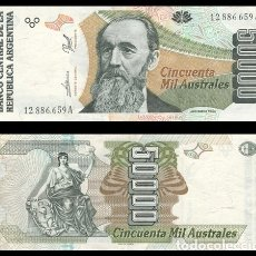 Billetes extranjeros: ARGENTINA 50000 AUSTRALES 1989 PIK 335 EBC+. Lote 182677662