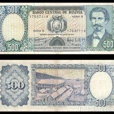 Billetes extranjeros: BOLIVIA 500 PESOS BOLIVIANOS 1981 PIK 166 MBC+. Lote 182680663