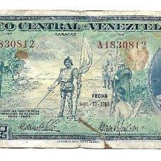 Billetes extranjeros: VENEZUELA 5 BOLIVARES 1966. Lote 182688121