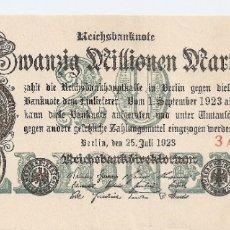 Billetes extranjeros: ALEMANIA 20 MILLONES MARCOS 1923 MBC . Lote 182855306
