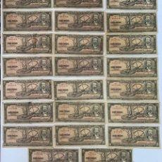 Billetes extranjeros: LOTE DE 23 BILLETES. CUBA. DIEZ PESOS. AÑO 1956. VER FOTOS.. Lote 183253652