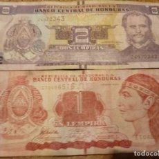 Billetes extranjeros: 2 BILLETES DE HONDURAS DE 1 Y 2 LEMPIRAS. Lote 183280576