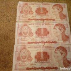 Billetes extranjeros: 3 BILLETES DE HONDURAS DE 1 LEMPIRA. Lote 183281396