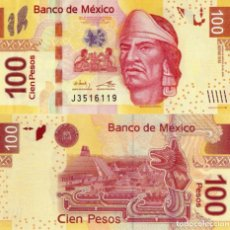 Billetes extranjeros: MEXICO 100 PESOS, 2016, UNC, SERIES BB, NEZAHUALCOYOTL. Lote 183341443