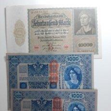 Billetes extranjeros: LOTE 3 BILLETES ANTIGUOS SC EBC+++MUY BUENOS. Lote 183721941
