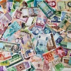 Billetes extranjeros: GRAN LOTE 150 BILLETES DEL MUNDO CALIDAD UNC TODOS DIFERENTES. Lote 218290033