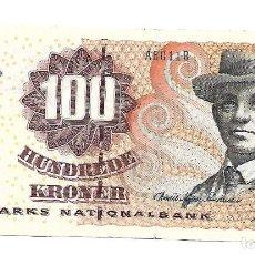 Billetes extranjeros: DINAMARCA 100 KRONER 1999 PICK 56. Lote 183826266
