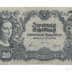 Billetes extranjeros: AUSTRIA 20 SCHILLING 1945 PICK 116A. Lote 183828778