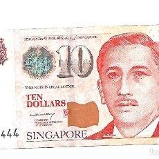 Billetes extranjeros: SINGAPUR 10 DOLLARS 2005 PICK 48A. Lote 183829588