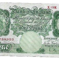 Billetes extranjeros: INGLATERRA REINO UNIDO 1 POUND 1955 PICK 369C. Lote 183830791