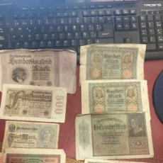 Billetes extranjeros: LOTE DE 8 BILLETES ALEMANES AÑOS 20 DIFERENTES VALORES . Lote 183878257