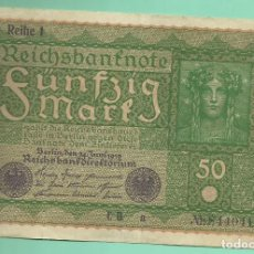 Billetes extranjeros: ALEMANIA. BILLETE DE 50 MARK 1919. MBC. Lote 183950693