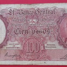 Billetes extranjeros: ARGENTINA. BILLETE DE 100 PESOS. 1935.. Lote 183992841